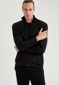 DeFacto Fit - Felpa aperta - black - 0