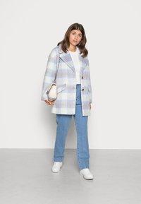 VILA PETITE - VIALISSI JACKET - Short coat - white/light blue - 1
