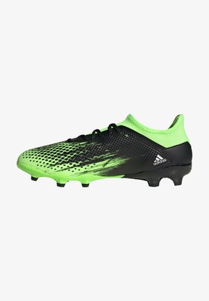 Moulded stud football boots - light green, black