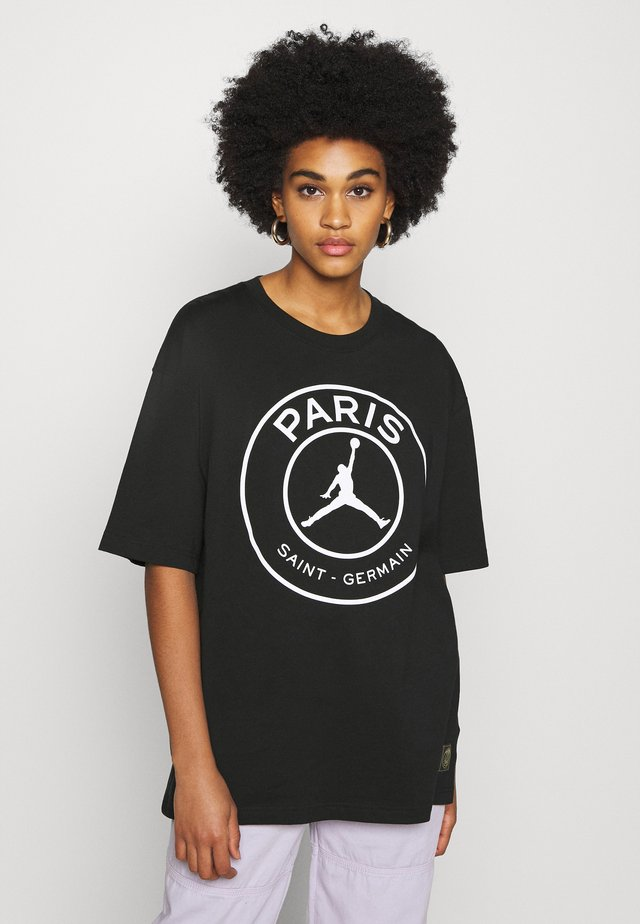 OVERSIZE TEE - T-shirt z nadrukiem - black/white