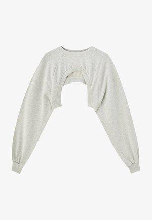 MIT RUNDAUSSCHNITT - Sweatshirt - beige