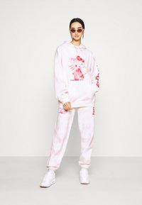 NEW girl ORDER - HELLO BUBBLE TIE DYE HOODIE - Sweatshirt - pink - 1
