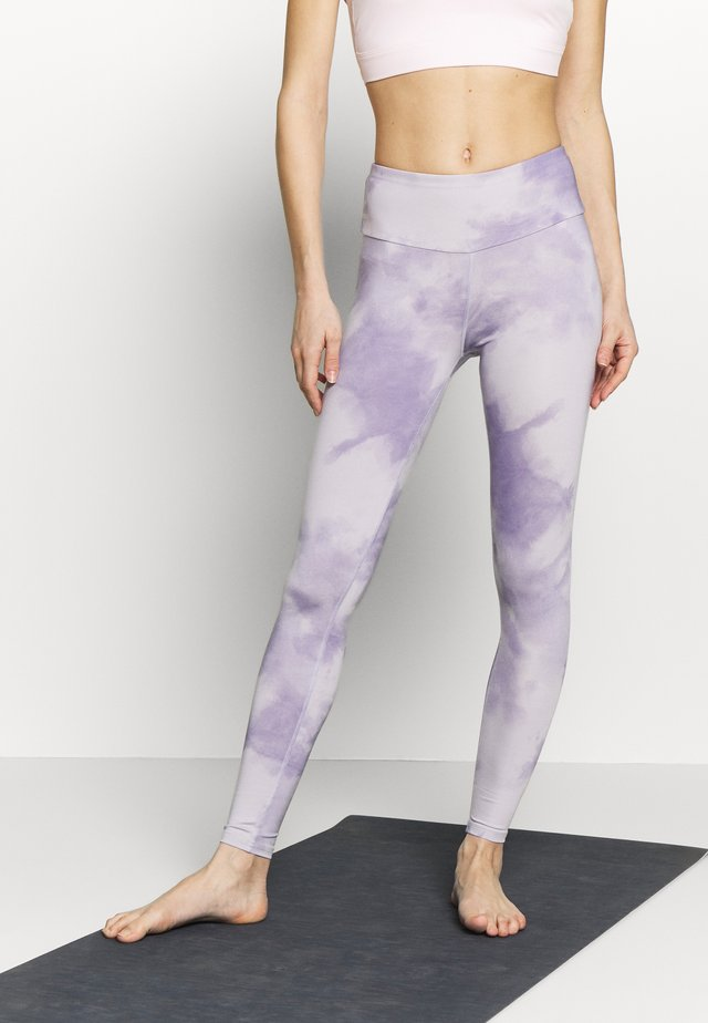 LEGGINGS TIE DYE - Trikoot - purple