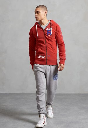 Zip-up hoodie - rouge red