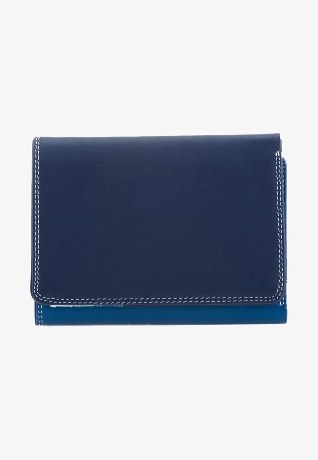 MEDIUM TRI FOLD - Wallet - mottled dark blue