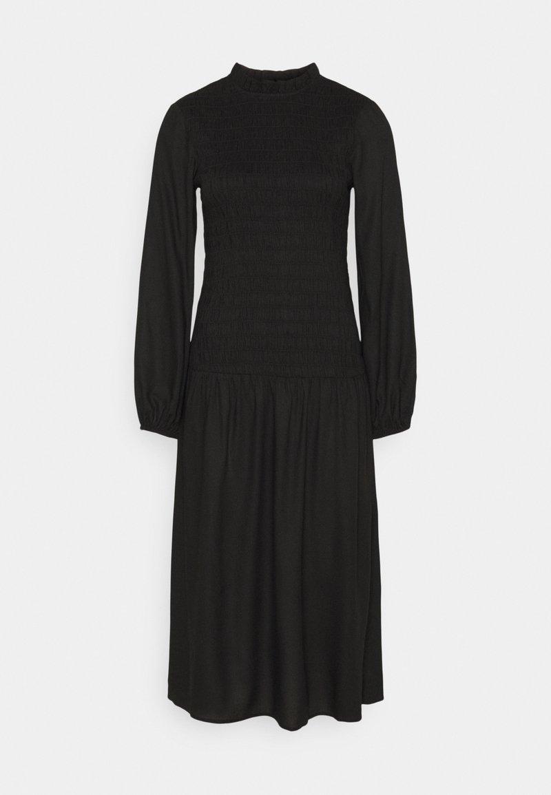 Dorothy Perkins - SHEERED MIDAXI - Shift dress - black
