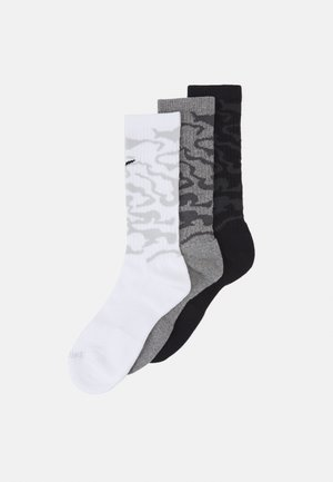 EVERYDAY PLUS CUSH CREW CAMO 3 PACK UNISEX - Sports socks - white/carbon heather/black