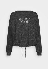 LANCE LOUNGEWEAR - Pyjama top - anthracite