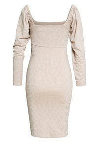 Lost Ink - RUCHED DETAIL BUTTON DOWN DRESS - Day dress - beige - 1
