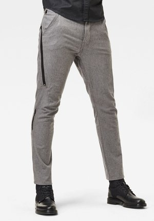 CITISHIELD 3D CARGO SLIM TAPERED - Trousers - zinc/dk black dobby