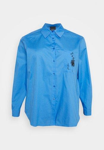 BIG - Button-down blouse - bluette