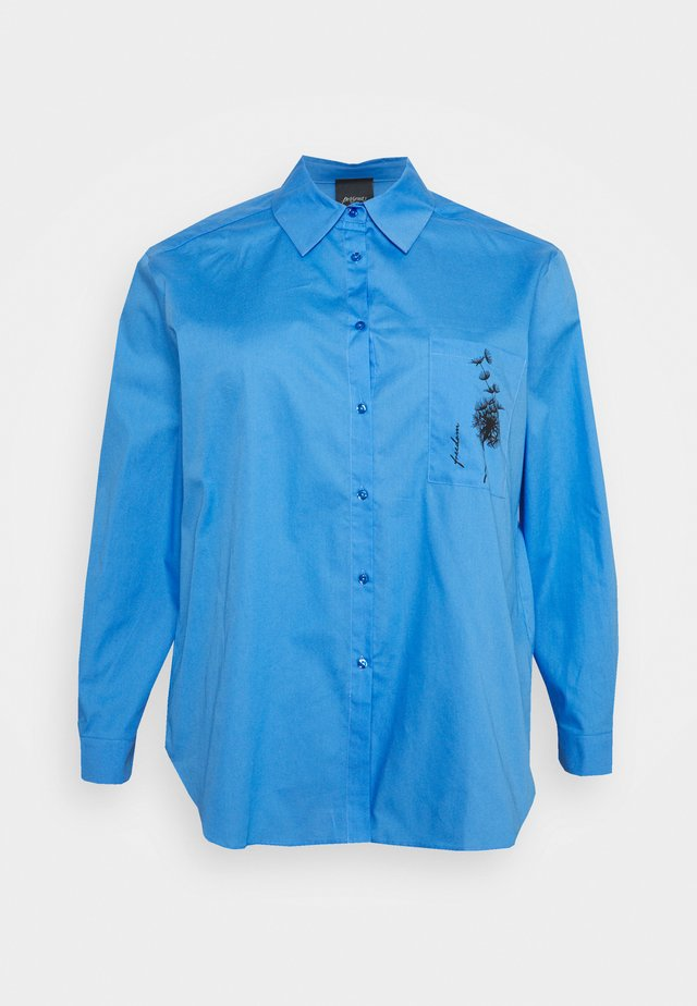 BIG - Button-down blouse - bluette