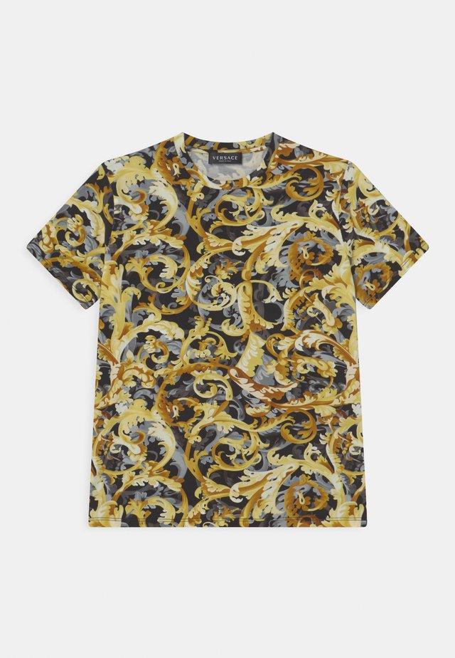 BAROCCO FLAGE UNISEX - T-shirt con stampa - nero/oro