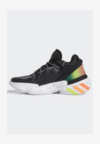 adidas Performance - D.O.N. ISSUE 2 UNISEX - Basketball shoes - core black/footwear white/solar red - 8