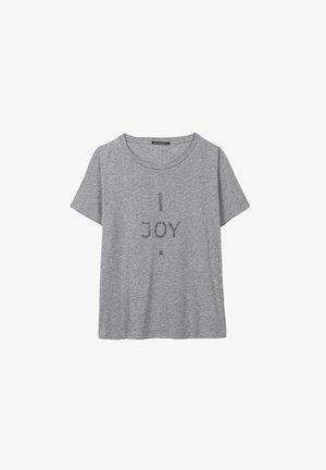 MIT WORDING-PRINT - Print T-shirt - grey