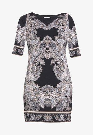 PAISLEY  PRINT SHIFT DRESS - Jersey dress - black
