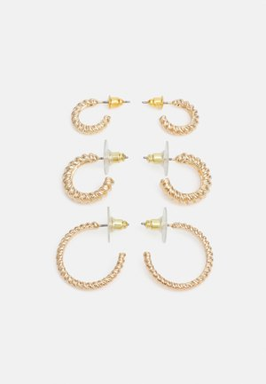 OCOELIN 3 PACK - Earrings - gold-coloured
