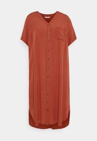 ONLY Carmakoma - CARNEWDENIZIA CALF DRESS - Shirt dress - arabian spice - 3