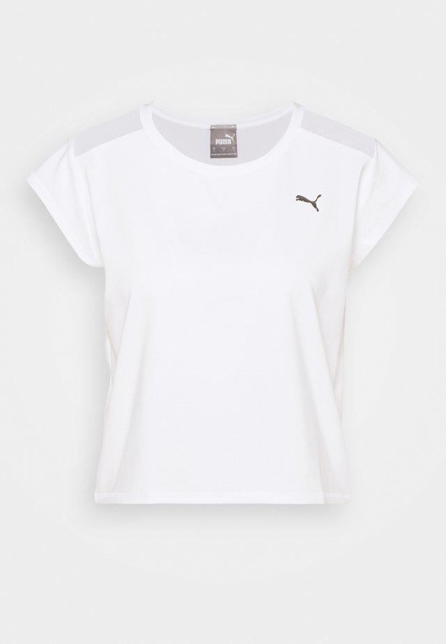 TRAIN UNTMD TEE - T-shirt con stampa - white