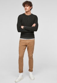 QS by s.Oliver - Trousers - brown - 1