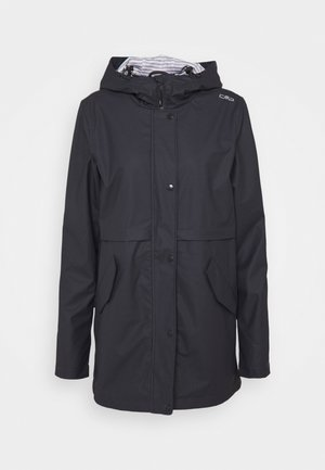 RAIN JACKET FIX HOOD - Outdoorjakke - antracite