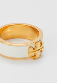 Tory Burch - KIRA LOGO RING - Anello - gold-coloured/new ivory - 4