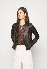 Oakwood - MARJORY - Leather jacket - dark brown - 0