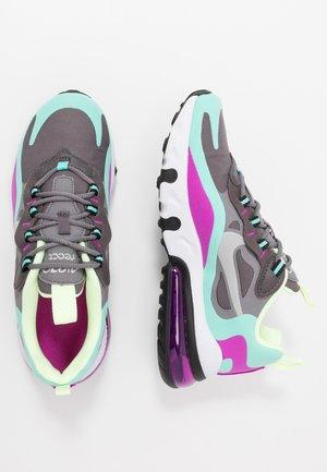 AIR MAX 270 REACT - Sneakers - gunsmoke/reflect silver/aurora green/hyper violet/barely volt/thunder grey