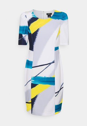 RUCHED SHEATH - Shift dress - spring navy/multi