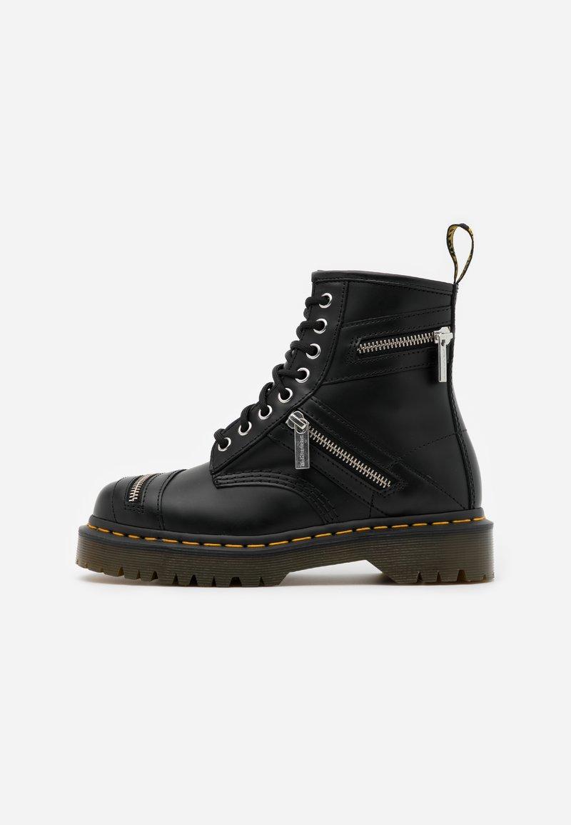 Dr. Martens - 1460 BEX ZIP - Cowboy/biker ankle boot - black smooth