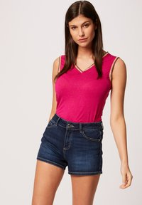 Morgan - WITH LARGE STRAPS AND STRIPS - Top - neon pink - 0