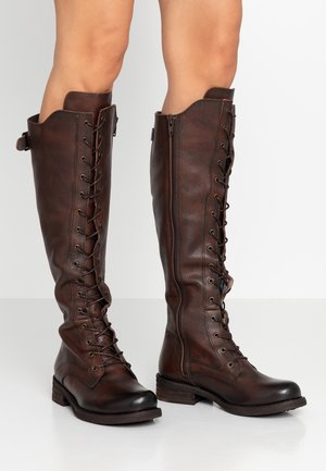 HARDY - Lace-up boots - cognac