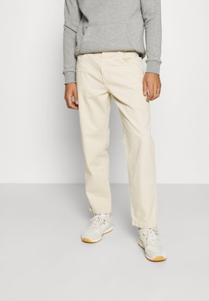 DRILL STRAIGHT LEG TROUSER - Trousers - beige