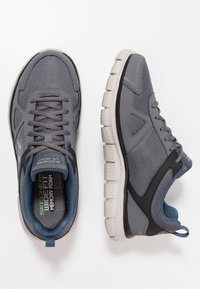 Skechers Wide Fit - TRACK SCLORIC - Sneakers basse - grey/navy - 1