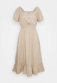 Cotton On Petite - WOVEN SHORT SLEEVE MIDI CORSET DRESS - Vapaa-ajan mekko - latte - 0