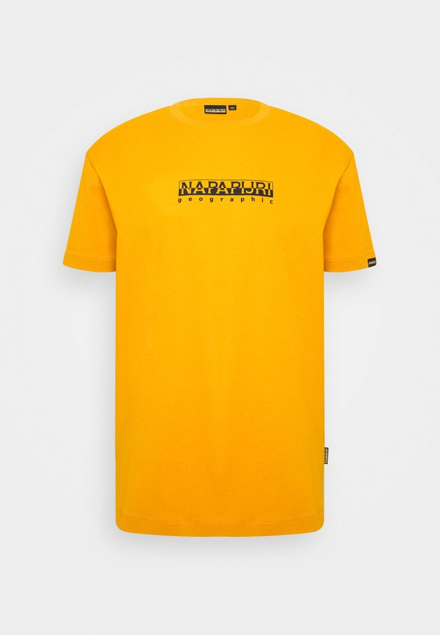 BOX UNISEX - T-shirt print - yellow solar