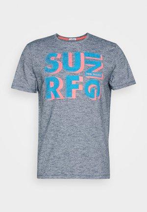 Print T-shirt - navy blue