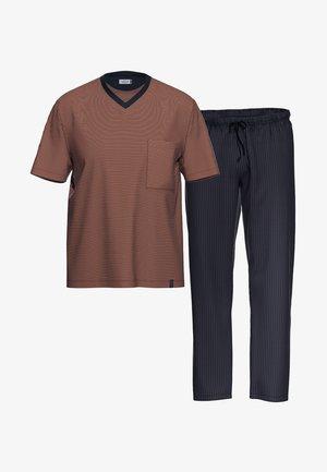 2 SET - Pyjama - blau / rot gestreift