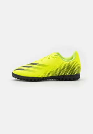 X GHOSTED.4 TF UNISEX - Astro turf trainers - solar yellow/core black/royal blue
