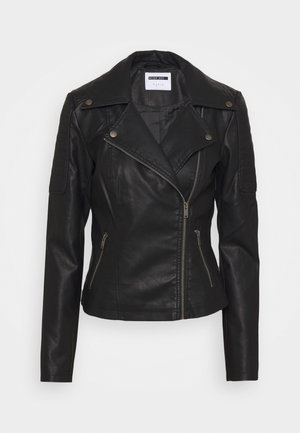 NMREBEL JACKET - Faux leather jacket - black