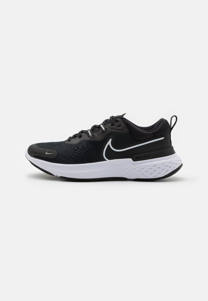 Nike Performance - REACT MILER 2 - Nøytrale løpesko - black/white/smoke grey