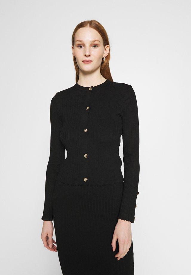 DRESS AND CARDI SET - Abito in maglia - black