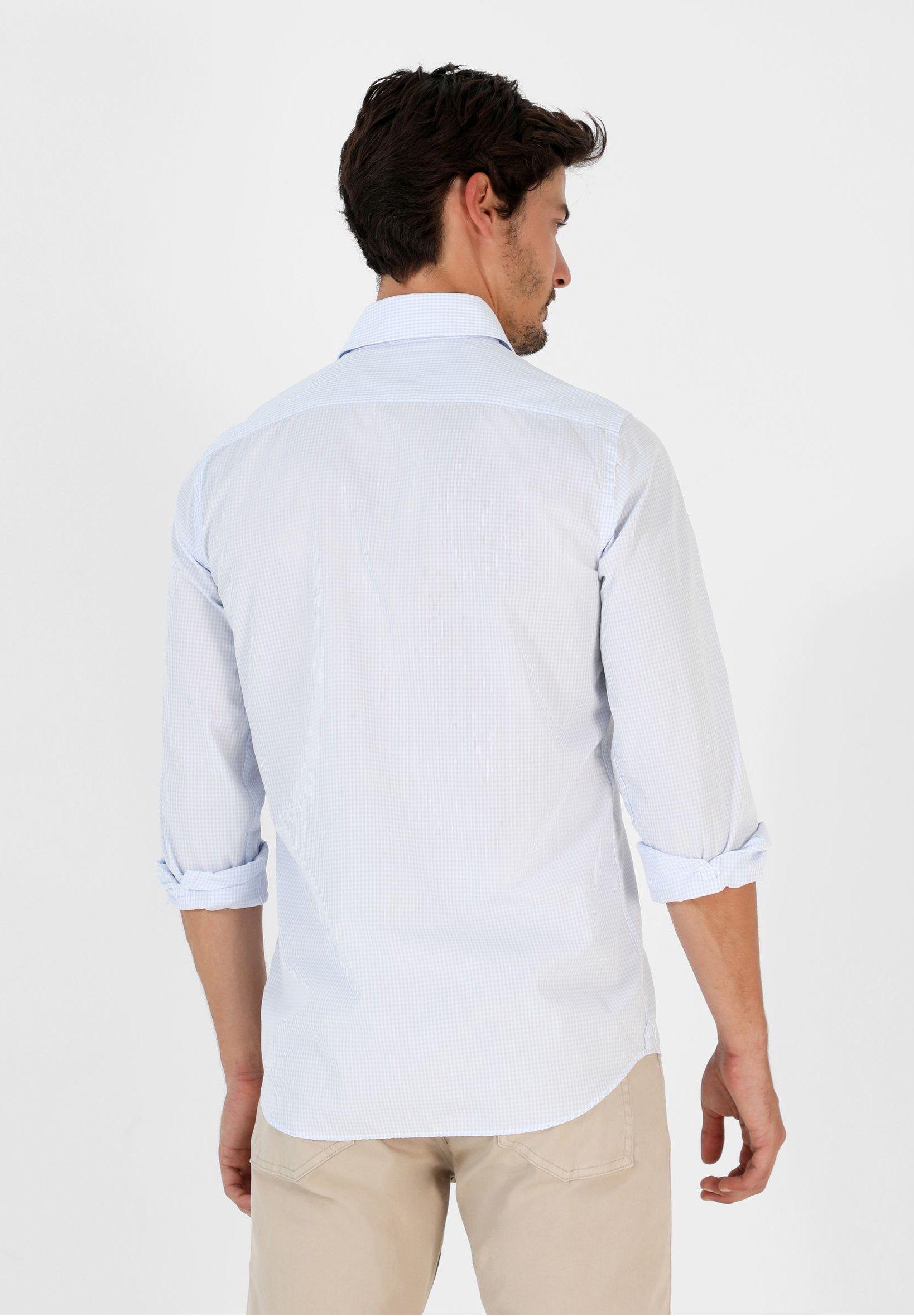 Scalpers Hemd - Light Blue Check
