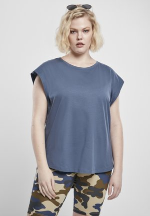 FRAUEN LADIES BASIC SHAPED - Basic T-shirt - vintageblue