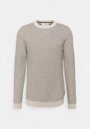 SLHWES CREW NECK  - Pullover - bone white