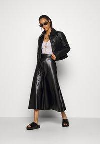 Weekday - TAXI JACKET - Faux leather jacket - black - 1
