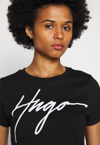 HUGO - THE SLIM TEE - T-Shirt print - black - 3