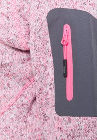CMP - WOMAN JACKET FIX HOOD - Fleece jacket - pink fluo melange/graffite - 6