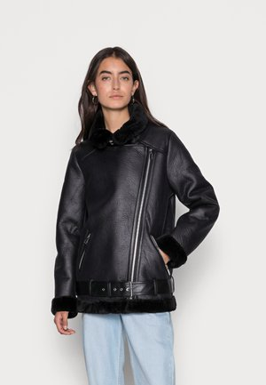 BONDED AVIATOR JACKET - Winter jacket - black