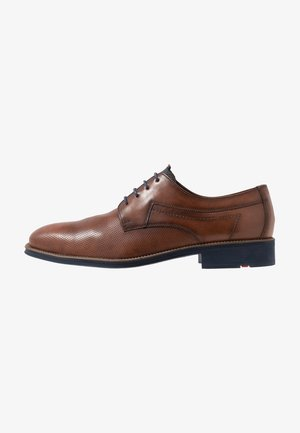 GAVINO - Smart lace-ups - cioccolato/ocean